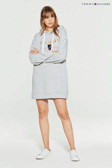 Tommy Hilfiger Grey Kristal Hoodie Dress
