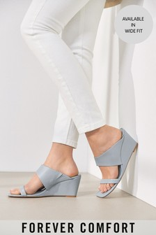 Two Band Mule Wedges