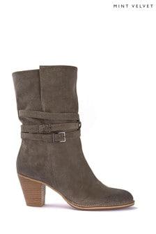 Mint Velvet Lisa Suede Strap Boots