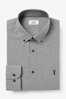 Slim Fit Mini Check Shirt