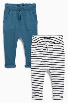 Textured Stripe Joggers Two Pack (3mths-6yrs)