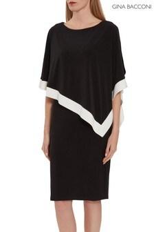 Gina Bacconi Sayuri Jersey Cape Dress