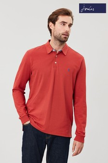 Joules Red Woodwell Long Sleeve Classic Fit Polo