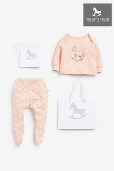 The Little Tailor Pink Jersey Top & Pants Gift Set