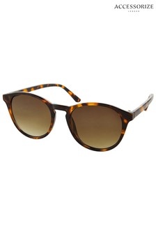 Accessorize Brown Polly Preppy Sunglasses