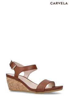 Carvela Natural Sparkle Sandals