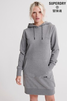 Superdry Charcoal Sweat Dress