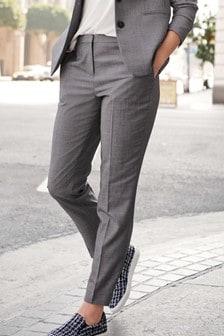 Pantalones de corte slim texturizado de zapa