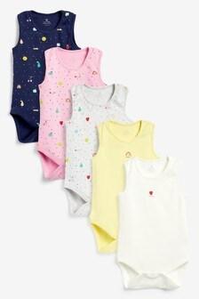 5 Pack Fruit Vest Bodysuits (0mths-3yrs)