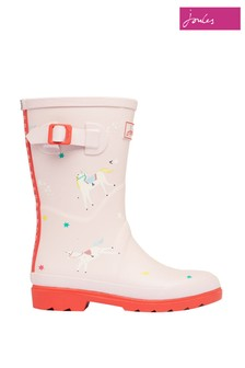 Joules Pink Junior Printed Tall Wellies