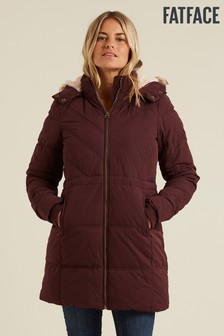 FatFace Purple Cumbria Padded Coat