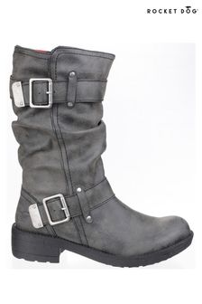 Rocket Dog Black Trumble Biker Boots