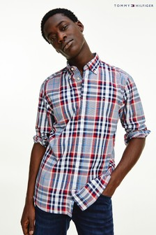 Tommy Hilfiger Red Large Check Shirt