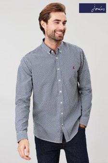 Joules - Hammond - Camicia blu con vestibilità classica e maniche lunghe