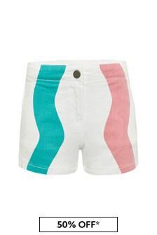 Stella McCartney Kids Girls White Cotton Shorts