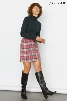 Jigsaw Pink Tartan Pocket Mini Skirt