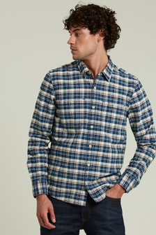 FatFace Blue Kingham Check Shirt