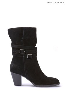 Mint Velvet Lisa Suede Strap Boot