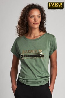 Barbour® International Apex T-Shirt mit Metallic-Logo