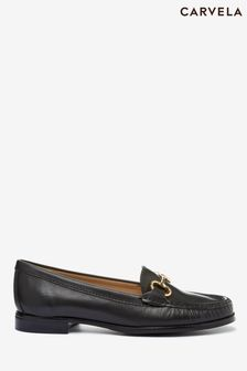 Carvela Comfort Black Click Leather Loafers