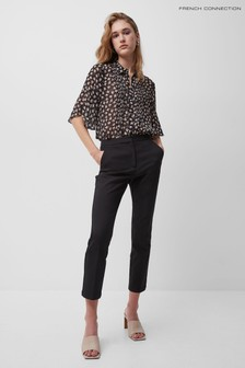 French Connection Black Fino Glass Stretch Skinny Trousers