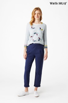 White Stuff Blue Maison Cotton Trousers