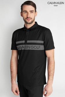 Calvin Klein Golf Black Teton Polo