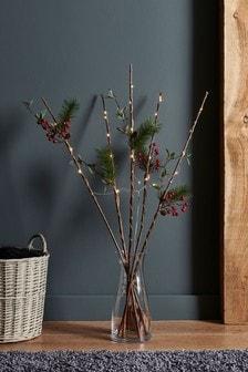 Lit Wooden Twigs