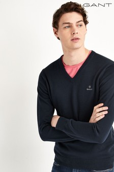 GANT Classic Cotton V-Neck Jumper