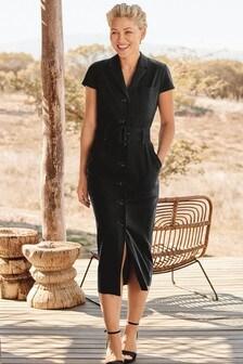 Платье из твилла с ремнем Emma Willis