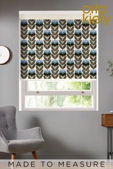 Rosebud Powder Blue Made To Measure Roller Blind by Orla Kiely