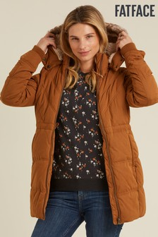 FatFace Brown Cumbria Padded Coat
