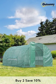 4m Polytunnel Greenhouse with door by Outsunny