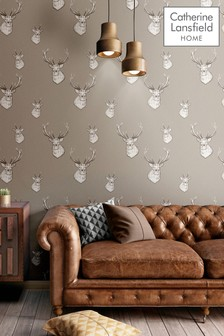 Catherine Lansfield Stag Wallpaper