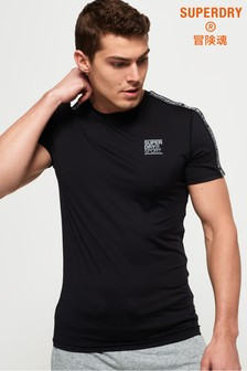 Superdry Active Tight Logo Taped T-Shirt