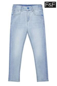 F&F Blue Skinny Fit Light Jeans
