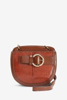 Buckle Detail Saddle Bag