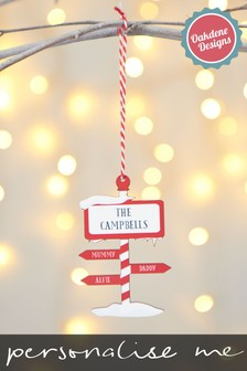Personalised North Pole Hanging Decoration by Oakdene Designs