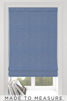 Jasper Sky Blue Made To Measure Roman Blind