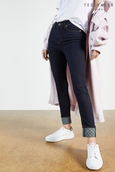 Ted Baker Blue Stefah Skinny Jean With Printed Cuff