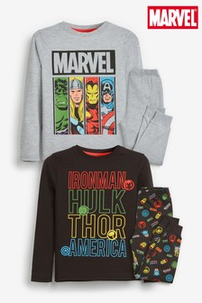 2 Pack Marvel® Pyjamas (3-12yrs)