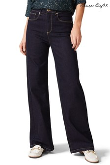 Phase Eight Blue Viona Wide Leg Jeans