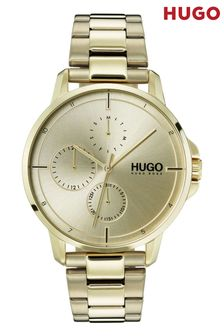 HUGO Focus Ice Gold Bracelet Watch