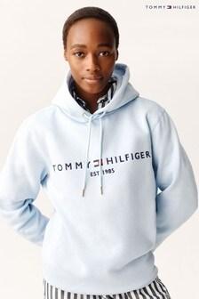 Tommy Hilfiger Blue Essential Logo Hoody
