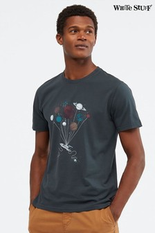 White Stuff Blue Space Graphic Organic T-Shirt