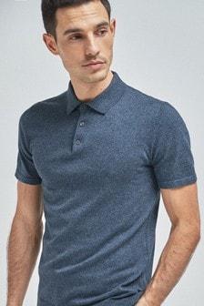 Short Sleeve Marl Knitted Poloshirt