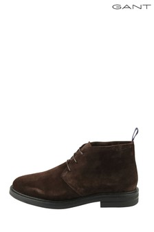 GANT Brown Fargo Mid Lace Boots