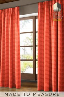 Jacquard Stem Tomato Red Curtains by Orla Kiely