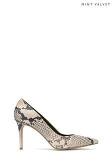 Mint Velvet Snake Print Pony Court Shoes