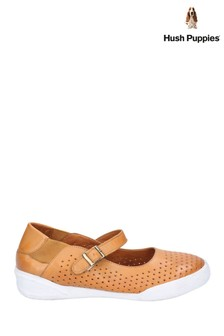 Hush Puppies Tan Bailey Buckle Strap Summer Shoes